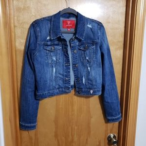 GUESS Denim Cropped Jacket